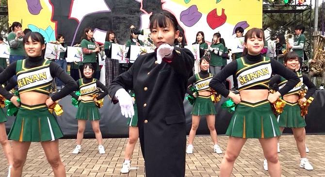 「応援団は男」今は昔 九州3大学に女性団長