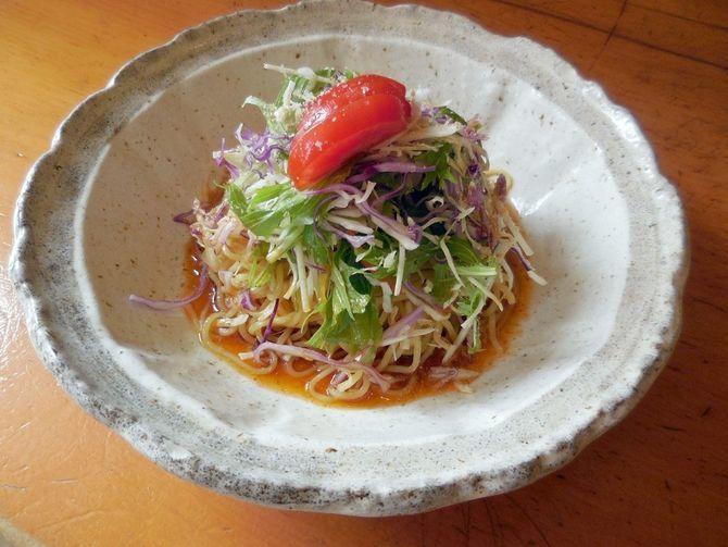 旬魚 和らべ 冷たい「ラーメンサラダ」 福岡市博多区