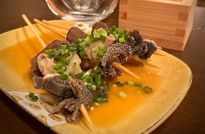 煮込み串 ますたーど 和牛のもつを使った串物 福岡市中央区