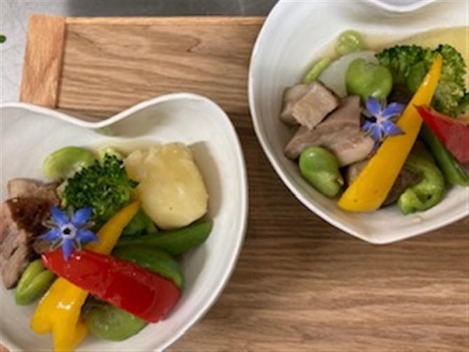 Caff〓 Panda 厳選食材で旬を味わう 福岡県柳川市