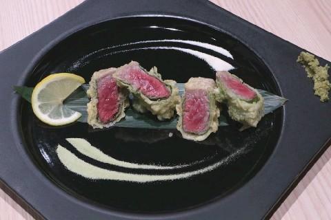 たつの申し子 レア状態の佐賀牛天ぷら 福岡市中央区