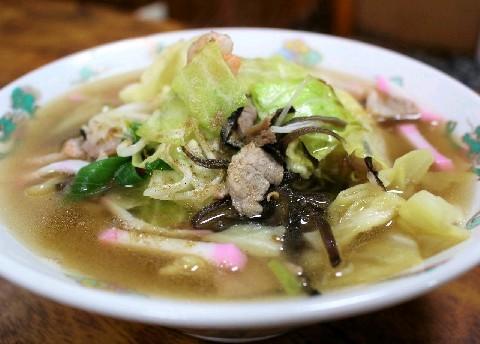 べら安食堂 甘めスープで具だくさん 福岡県久留米市